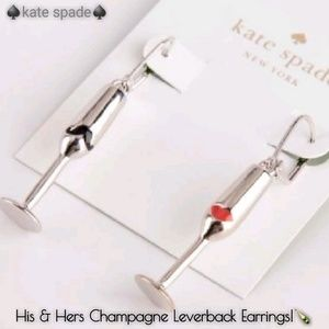 NEW!♠️kate spade His & Hers Champagne Earrings!🍾